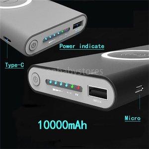 E Caricabatterie Popolare Qi Wireless 10000mAh batteria Power Bank veloce adattatore di carico per Samsung Note S8 Iphone 8 X Xs 11 con la scatola di vendita al dettaglio