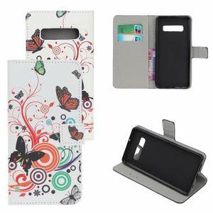 Stampa del fiore di caso per Flip Patterns Lite Galaxy Phone Pro Leather Protector Samsung PU S10 S10 Wallel Elikl