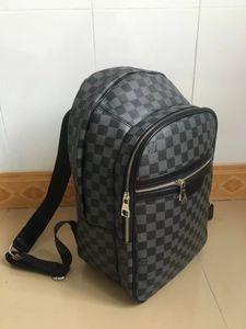 New Mike saco de viagem mochila pu material de rede mochila preta de alta qualidade,
