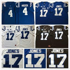 2020 Duke NCAA College Diables bleus # 4 Myles Hudzick Jersey Home Away # 17 Daniel Jones Cousu 150e Jersey Football Shirt Taille S-XXXL