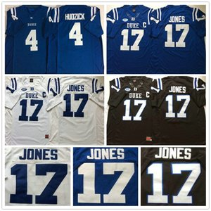 2020 NCAA Duke Blue Devils de la universidad # 4 Myles Hudzick Jersey casa Fuera # 17 Daniel Jones cosido 150º jersey del fútbol de la camisa del tamaño S-XXXL