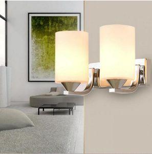 Fashion verre Applique Brief Moderne Led Miroir Wall Light Corridor Chambre Salon nuit E27 Nouveauté Lumière Lampada