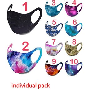 100PCS Starry sky masks Galaxy Camouflage Pattern Cotton Face Mask Men women Cute Mouth Masks Ear Loop Adjustable Face Cover  mask