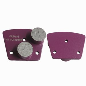 KD-A Series 6# Extremely Hard Diamond Grit Trapezoid Metal Bond Diamond Grinding Shoes for Concrete and Terrazzo Floor 9 Pieces One Set