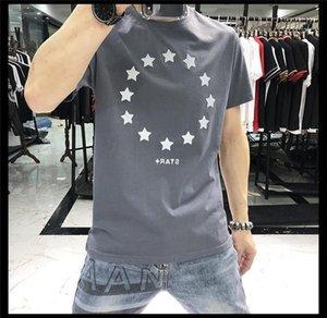 셔츠 코튼 소프트 남성 디자이너 T 셔츠 높은 품질 블랙 그레이 블루 T 셔츠 티 플러스 사이즈 남성 T