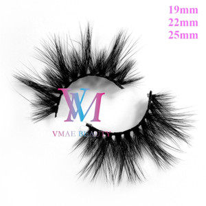 Factory DHL 64 Styles 25MM 22mm Siberian Real 5D Mink Fur Hair Mink Eyelashes Extensions Thick 3D 6D Makeup Eye Lash Custom Private label