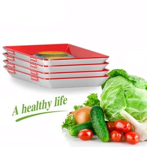 Clever Tray Innovative Food Preservation Tray Plastic Food Storage Container Set Food Fresh Storage Microwave Cover Dropship
