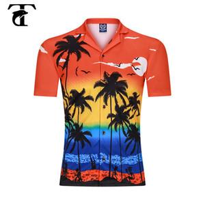 Impresión Digital 3D playa de los hombres camisas de verano 2020 de moda casual camisa de Hawaii sueltan de manga corta de cuello de coco tapas de la blusa