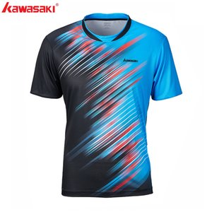 2019 Kawasaki bádminton camiseta de los hombres de la camisa de tenis de secado rápido de manga corta Entrenamiento transpirables Camisas para Hombre ST-S1128 Y200409