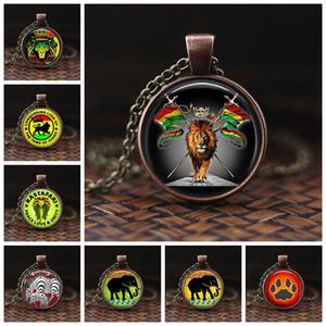 Art und Weise große Elefant-Halsketten-Silber-Ketten Tierhalsketten-Schmuck Afrika Elefant-Anhänger-Kunst-Foto Glas-Halskette