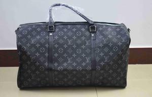 2019 hommes duffle femmes sac de voyage sacs Voyage sac design de luxe bagage à main hommes sacs à main en cuir PU grand sac mortuaire croix totes 55cm