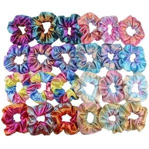 Bambini Designer Hairbands Bronzing Scrunchies Capelli Bands Gradiente Colore Colore Cerchio Ponytail Ponytail Holder Headwear Abbigliamento Accessori per capelli BT4331