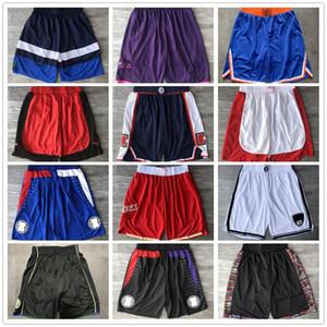 Üst kalite ! 2020 Takım Basketbol Şort Erkekler Şort Spor Şort Koleji Pantolon Yeşil Beyaz Mavi Kırmızı Siyah ed