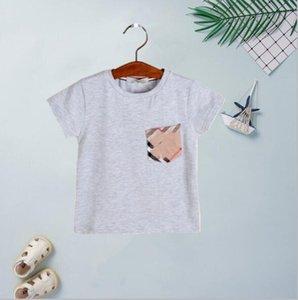 2020 Moda Erkek Çocuk Tees O yaka Kısa tişört Kızlar Sokak Stili Yumuşak Çocuk Tasarımcı Giyim T Shirts