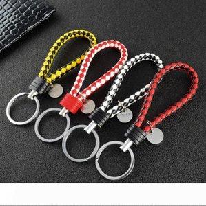 New Arrival Unisex Braided Leather Rope Handmade Waven Keychain Zinc Alloy Key Chain Car Key Ring Turbo Keychain