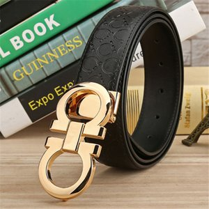 Fashion Men and Women Unisex Belt with g Gold Buckle 2019 Designer Mens Casual Belts for Jeans Female Black Belt for Dresses
