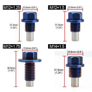 Hot Car Sales Modificado liga de titânio Strong Magnetic Pan Oil Screw Universal Magnetic drenagem de óleo plug sucção Ferro Screw