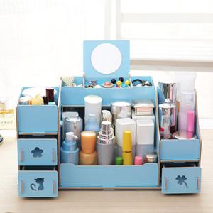 Die Fach-Art-Aufbewahrungsbehälter Organisator Für Kosmetik Make-up Organizer Box Schmuck Halskette Nagellack Ohrring-Halter #G Assembled