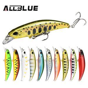 Allblue New Jerkbait 60 / 70sr 낚시 미끼 60mm / 70mm Sinking Minnow Wobbler Hard Lure Bass Pike Peche Isca 인공 미끼 태클