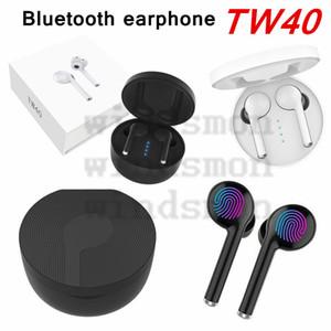 TW40 Bluetooth 5.0 sans fil Bluetooth stéréo écouteurs écouteurs Microphone intra-auriculaire Bluetooth Sport Gaming Oreillettes Casque Casque étanche