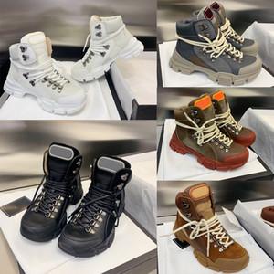 Luxo FlashTrek de alta top Unisex Mens Ankle Sapatinho Caminhadas Militar de inicialização das mulheres plataforma Designer Calçados Martin botas Sneakers