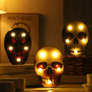 LED Luzes abóbora de Halloween bat aranha crânio decoração da lâmpada levou partido decoração noite luz 5 estilos XD22220