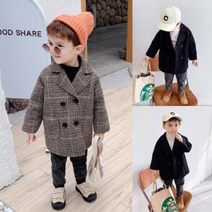 Boys' woolen fashionable babies Wool ' winter woolen coat children's thickened coat 2019 New