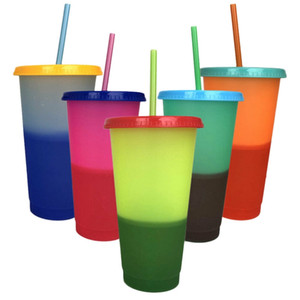 5 Cups Color Changing Cold Reusable Temperature Color Changing Cup