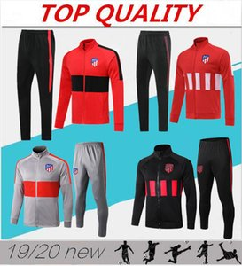 Traje de entrenamiento de la chaqueta de fútbol 2019 2020 JOÃO FÉLIX Atletico 2019/20 camiseta de fútbol Chaqueta de fútbol de LLORENTE Chándal largo de cremallera JOAO FELIX