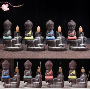 Lotus Backflow Buddhist Incense Little Monk Censer Ceramic Backflow Holder Introduction