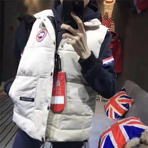 Canada Goose Ücretsiz Kargo Noel Marka Kış Ceket yelek termal açık mens Aşağı Yastıklı Ceket Kış soğuk ceket Ördek tasarımcıya% 100 Beyaz Womens