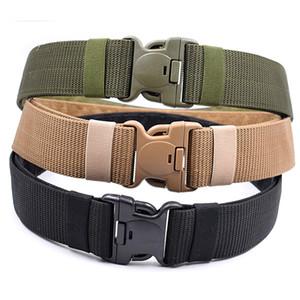 L'esercito militare addensare tela di cintura regolabile uomini della cinghia di 140cm tattica esterna delle donne degli uomini militari di sport di plastica Belt Buckle