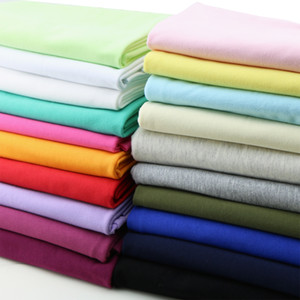 50 * 185cm baby t-shirt frick 100% cotton knocked extenchy Summer jersey clothing fricky soft DIY for dress Elastic Pure color