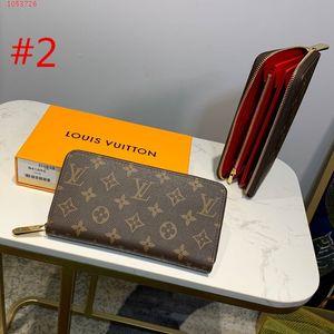 M60742 CLEMENCE WALLET PORTEFEUILLE Top qualité Femmes Iconic Fashion Long portefeuille Porte-monnaie Porte-cartes Marron imperméable toile blanche