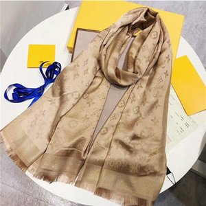 New Hot sale Beautiful women autumn and winter wool and silk scarf letter flower scarf shawl size 180*70cm women luxury designer scarfs