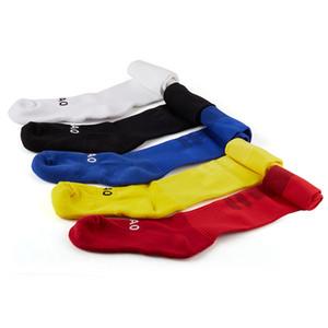 Al por mayor-R-BAO 3 pares / porción Anti-Slip de algodón Calcetines de ciclismo de larga Fútbol Voleibol Fútbol Calcetines Hombres
