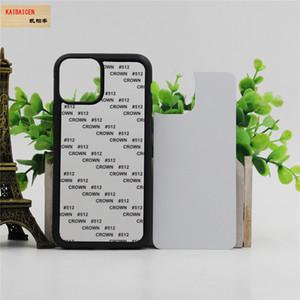 Pour Iphone 11/11 Pro / Pro 11 Max TPU + PC en caoutchouc souple 2D Sublimation blanc pour Samsung Note 10 Transfert de chaleur Téléphone Housse