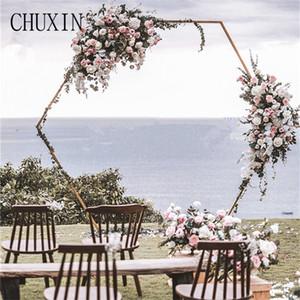 Mariage fer Art hôtel porte arc fleur artificielle Maison d'accueil décoration filower porte photographie décoration props de mariage