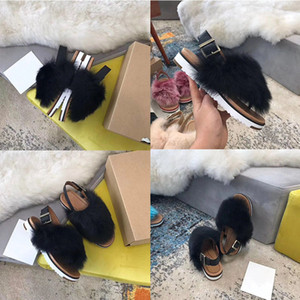 Mulheres chinelos peludo Slides pantoufle Chinelos mulheres g geléia Slides Feminino flip flops interior Casual Praia Sandals Fluffy Slipper B