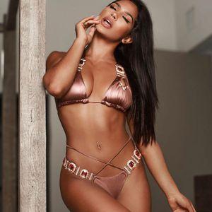 Bikini Crystal Rhinestones Glitter Diamond Gems Designer Swimwear Women Bikini Set Beach Bathing Suit Swimsuit Push Up Suit