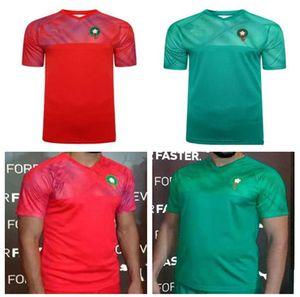camisas de futebol Ziyech Boufal Fajr Munir Ait Bennasser AMRABAT novo 2019 2020 Marrocos camisas de futebol home away 19 20 maillot de pé