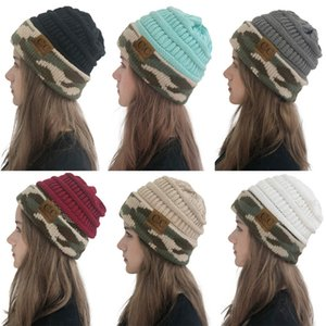 Мода толстые твист нить вязаная шапка дети женские искусственные зимние шапки шапки девушки женщины нить вязать шапочки с логотипом