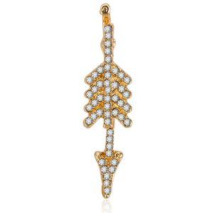 Изысканный стрелка серьги для женщин мода очаровательные ювелирные изделия простой геометрический Золотой треугольник Любовь заявление серьги