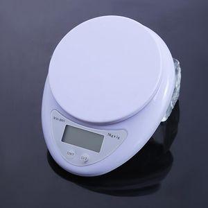 Portátil 5 kg x 1 g Báscula digital LCD Básculas electrónicas Botas de cocina Steelyard Equilibrio de alimentos de medición postal Peso de Libra con caja