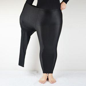 Women Pants Thin Wearing Small Feet Trousers Leggings Super Plus Size 3XL 4XL 5XL Vadim High Elasticity Harajuku