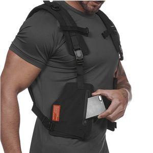 Tactical Chest Rig Vest Streetwear Hip Hop Esecuzione Maglia da ciclista Uomini Harness sport esterni della vita Fitness pacchetto sacchetto della cassa