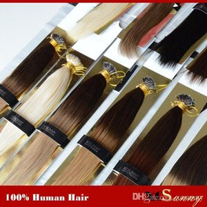 """XCSUNNY Nano Ring Remy Hair Extensions 18"""" 20""""1g s Ombre Nano Loop Hair Extensions 100g Nano Bead Hair Extensions +100beads"""