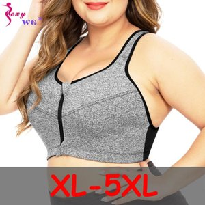 Plus Size Top Women Zipper Sport Sous-vêtements Soutien-gorge push ShockProof Athletic Up Gym Fitness Yoga course Bh Sport Bra Top Haut Elasitc