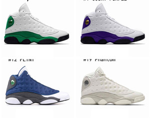 Top Jumpman 13 13s Men Basketball Shoes Atmosphere Grey Cap and Gown Black Island Green Carmelo Anthony 11s Bred Concord Designer Sneakers