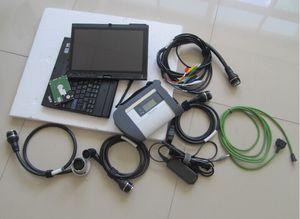 alta qualidade com WiFi mb star c4 laptop para Lenovo x200t touch screen+ soft/ware hdd conjunto completo pronto para funcionar
